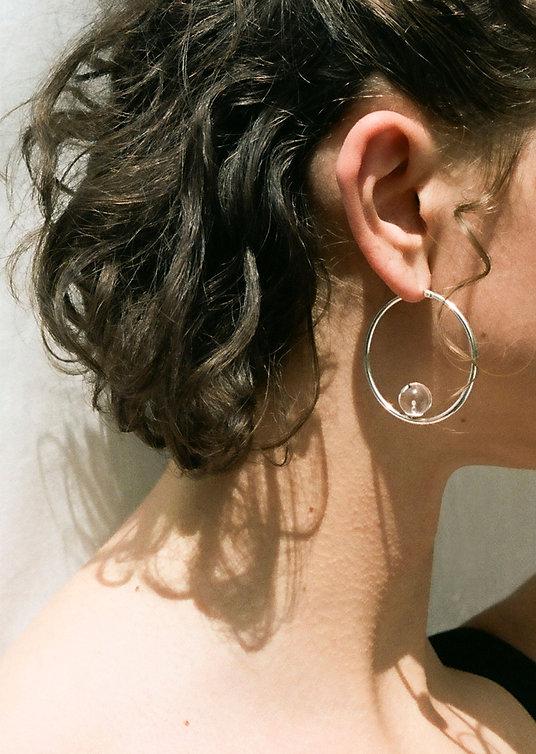 Handmade silver jewellery, silver earrings.