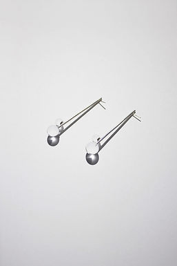 LINE DUO EARRINGS - CLEAR