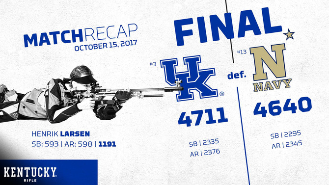 No. 3 UK Rifle Team Dominates No. 13 Navy
