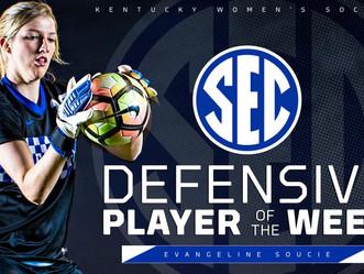 Women's Soccer: Soph. Goalie Evangeline Soucie named SEC DPOW