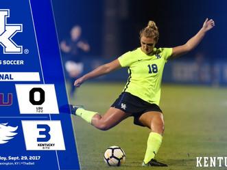 Women's Soccer defeats No. 11 LSU 3-0