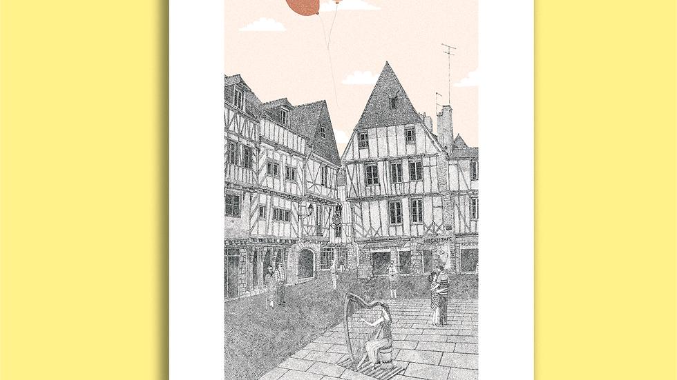 Carte Postale Place Saint-Pierre, Vannes