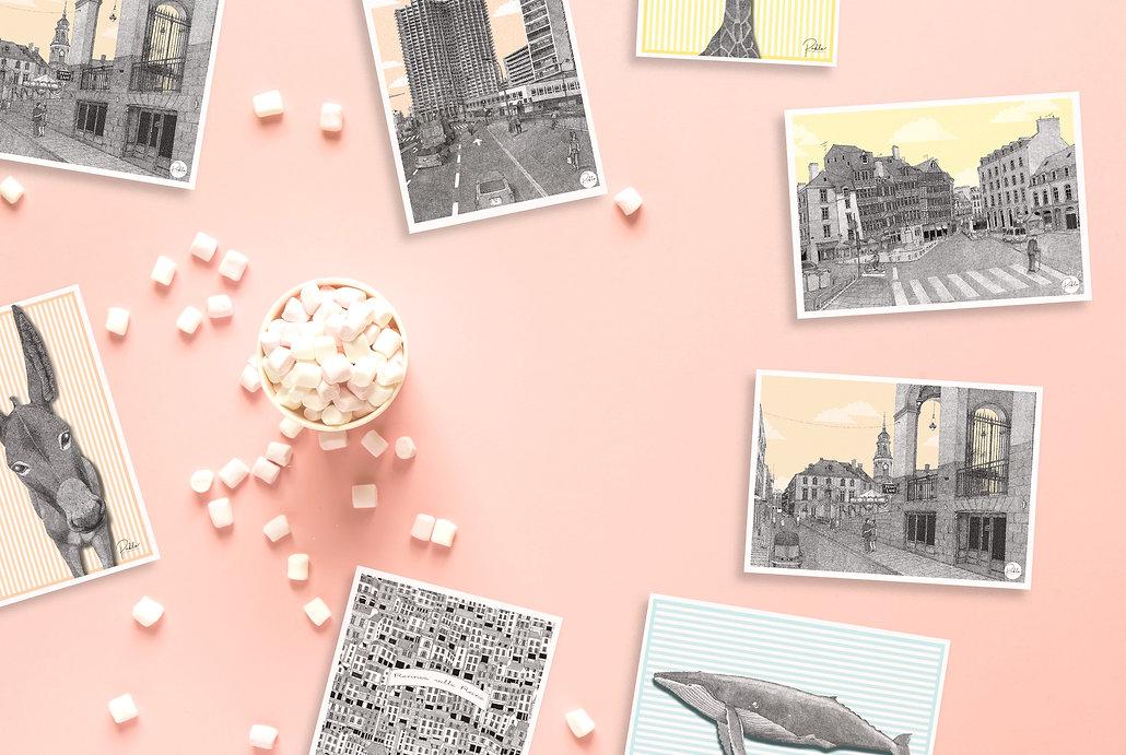 Illustration - Illustratrice - Rennes - Bretagne Pablo est une fille cartes postales affiche sérigraphie