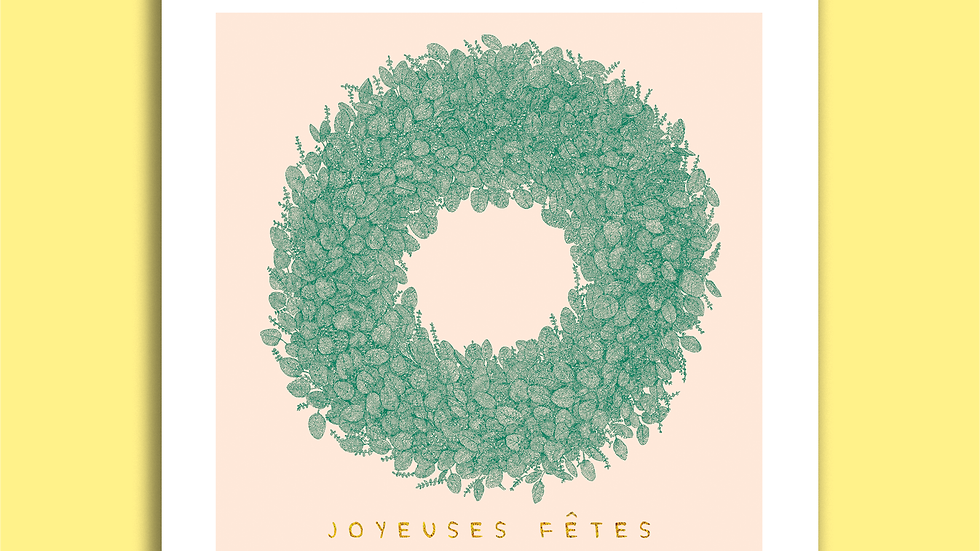 Carte Postale - Joyeuses Fêtes