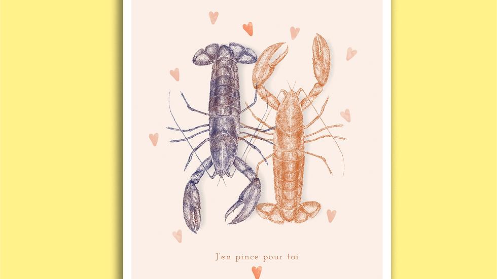 Carte Postale - Duo de Homards