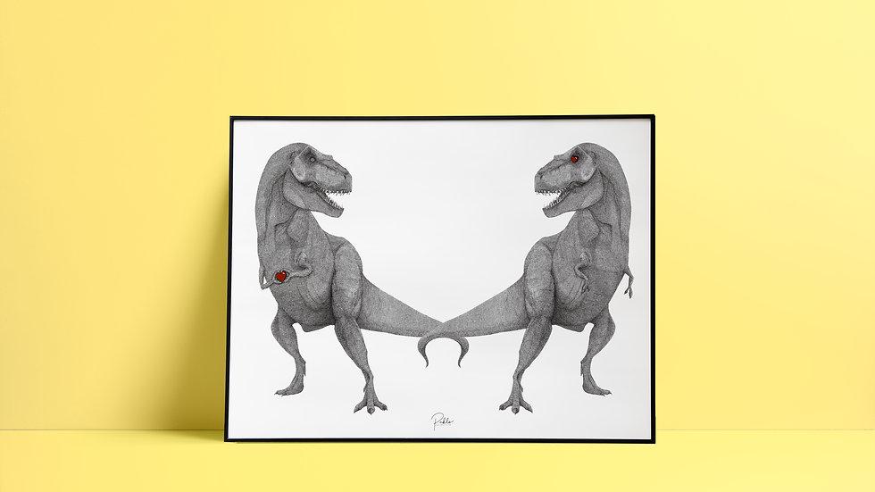 Affiche et sérigraphie Dinosaure
