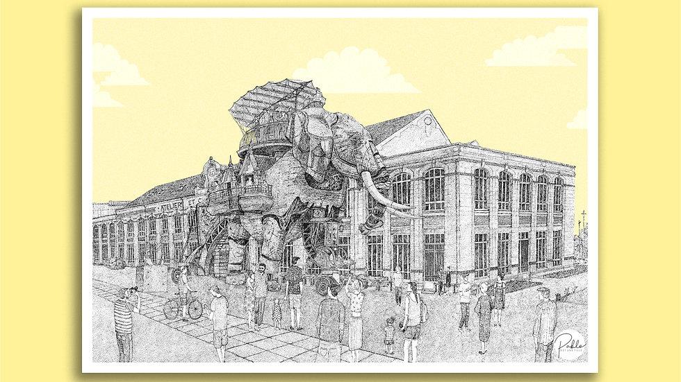 Carte Postale Éléphant - Nantes