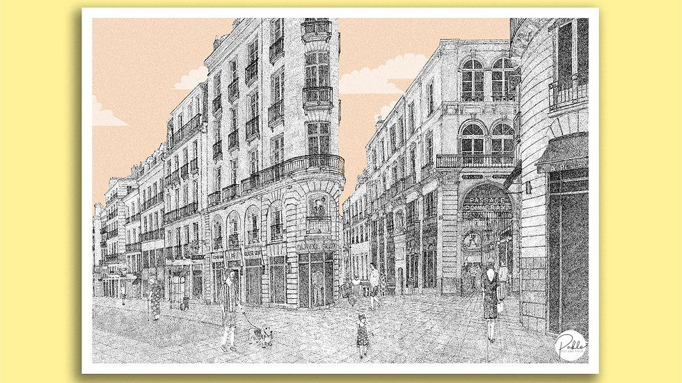 Carte Postale Passage Pommeraye - Nantes