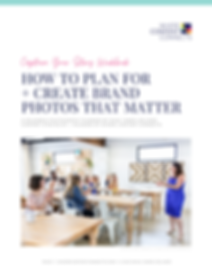 Capture Your Story Workbook Brand Photography Planner