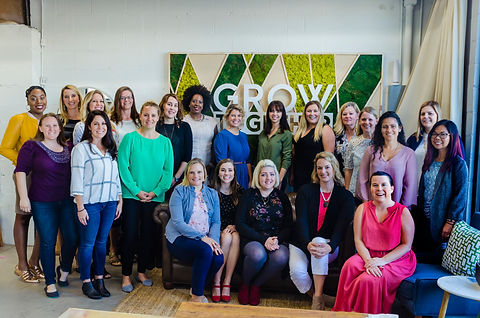 Nikki James Zellner leads a Milspo Project Gather event for military spouse entrepreneurs