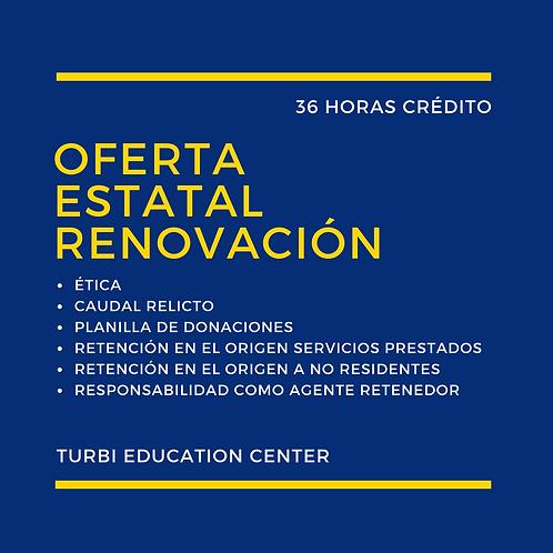 Oferta Estatal - Renovación