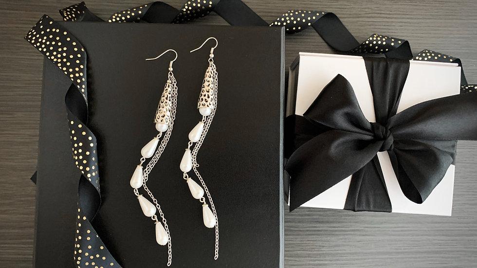 Pearl Drops | Long Earrings
