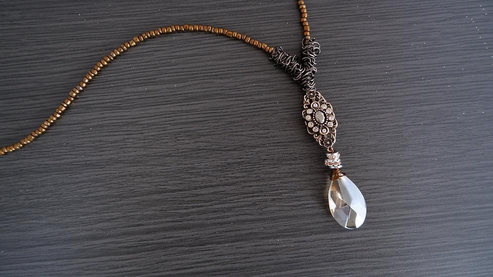 Vintage Drop |  Antique Style Necklace