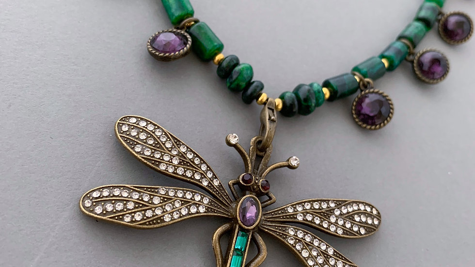 Magic Dragonfly   Necklace