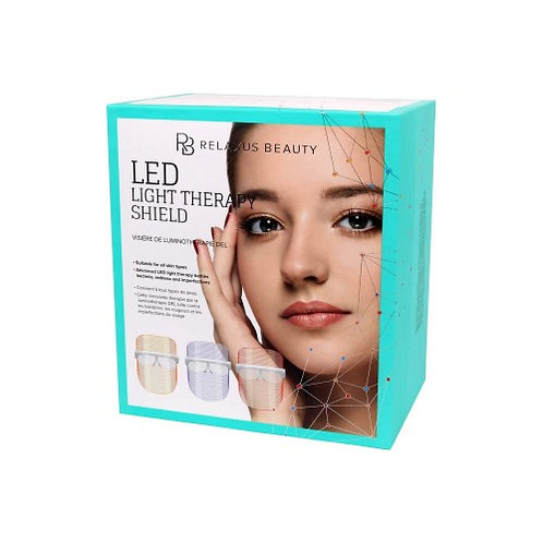 Relaxus Beauty LED Light Therapy Face Shield