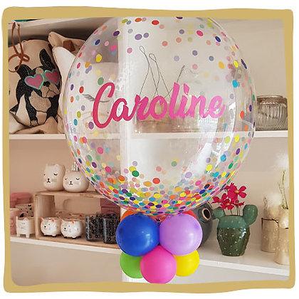 Bubble Ballon met naam - Kleurrijk