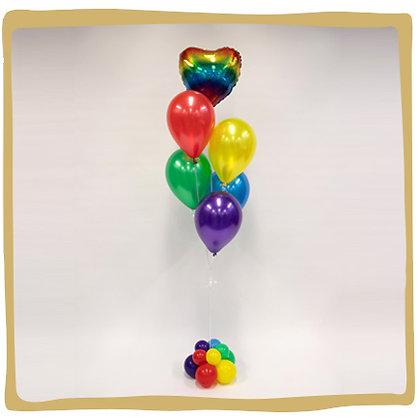Regenboog - Ballonboeket