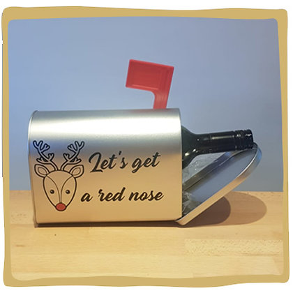 Wijn Brievenbus - Let's get a red nose