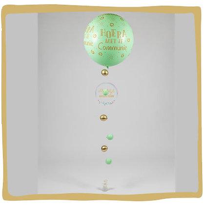 Communie Ballon - 90cm -Pastel Groen
