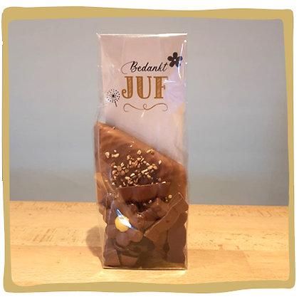 Zakje chocolade juf