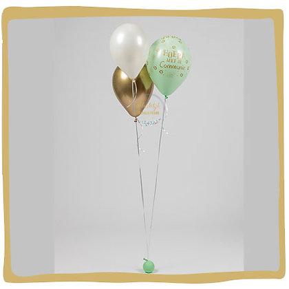 Communie Boeket - Pastel groen & Reflex Goud