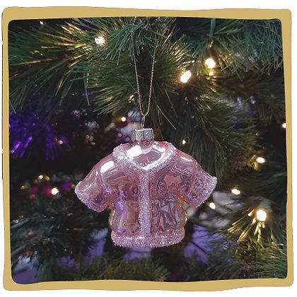 Kerstbal - Roze Glitter Jasje