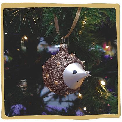 Kerstbal - Glitter Egel