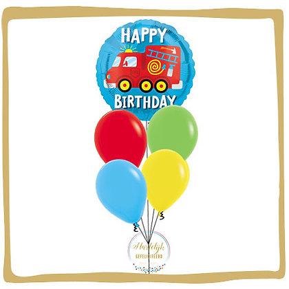 Brandweerwagen Verjaardag - Helium Boeket