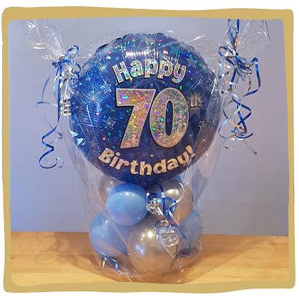 Happy 70th birthday - Kadoballon
