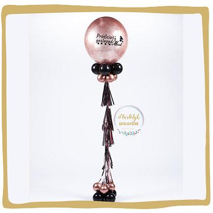 Geslaagd - Glitterballon - Gepersonaliseerd