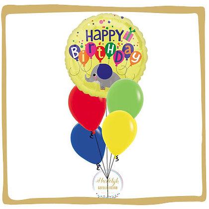 Happy Birthday Olifant - Helium Ballonboeket