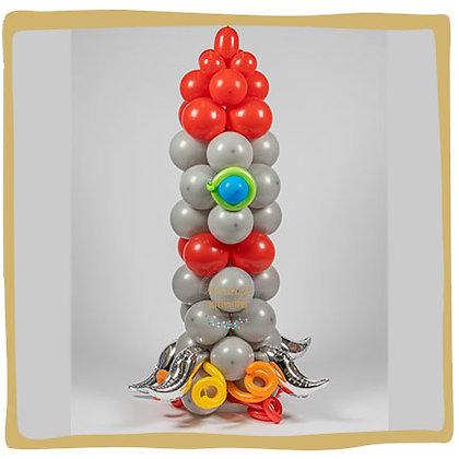 Raket - Ballonnen Pilaar - 1m80