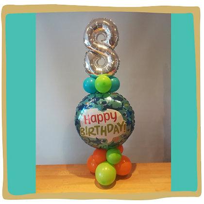 Happy 8th Birthday - Ballondecoratie