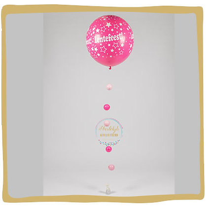 Lentefeest Ballon 90cm - Fuchsia