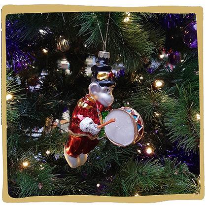 Kerstbal - Aapje met Trommel