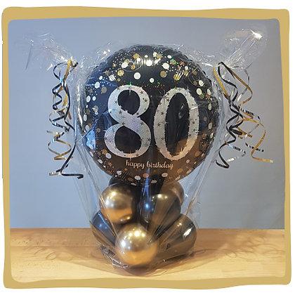 80th Birthday - Ballongeschenk