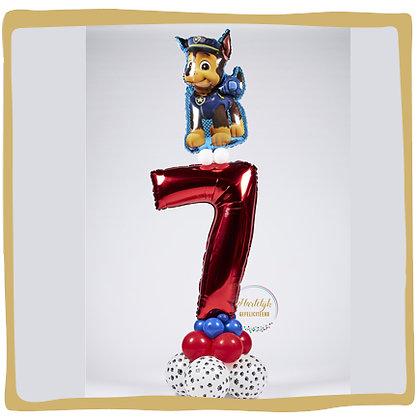 Paw Patrol Birthday - Ballonpilaar - 1m70