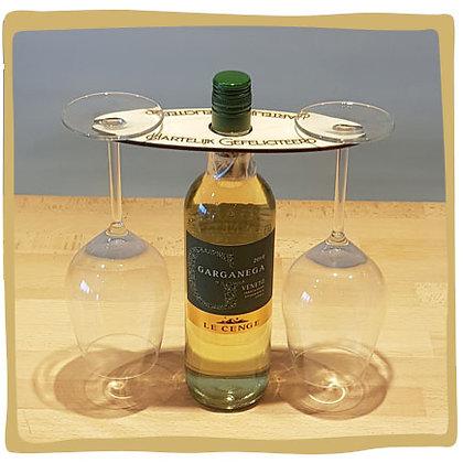 Wijn Set Wit - Hartelijk Gefeliciteerd