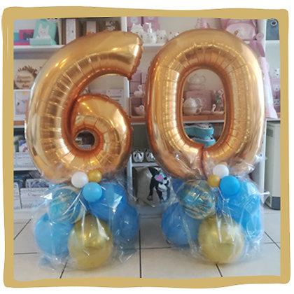 Nummer 60 -  Ballondecoratie - 1m20
