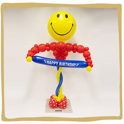 Mr Smiley - Ballonpilaar - 1m80