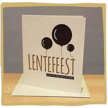 Lentefeest - Wenskaart