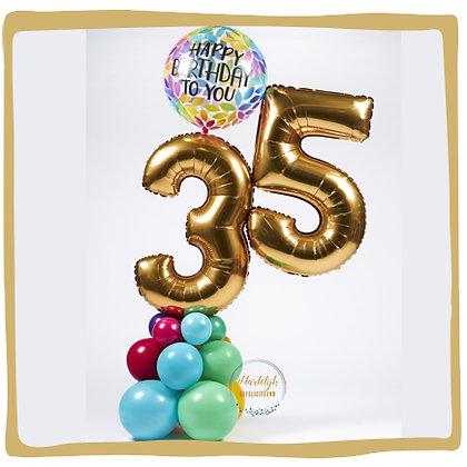 Birthday Number -  Ballondecoratie - 1m80