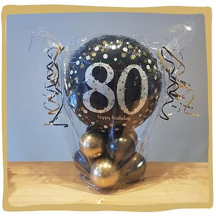 Happy 80th birthday ballon