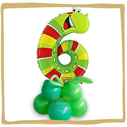 Nummer 6 Ballon - Regenworm
