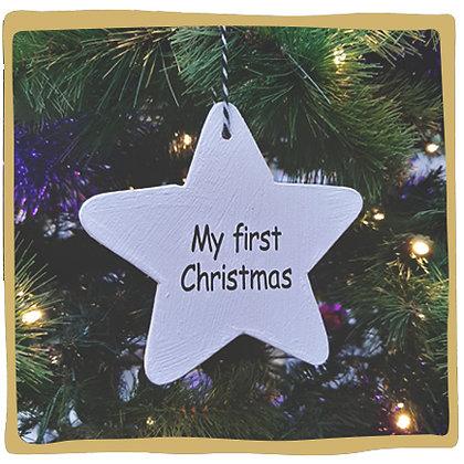 Kerstbal - My First Christmas Houten Ster