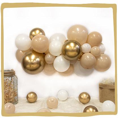 Maak je eigen ballondecoratie - White sand/Gold
