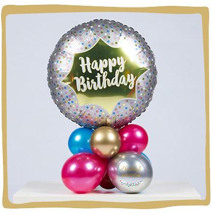 Verjaardag Zilver - Ballongeschenk
