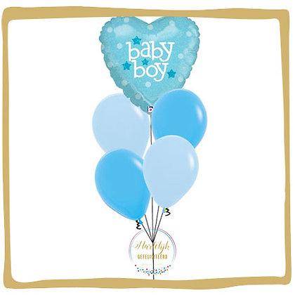 Baby Boy Hart - Helium Ballonboeket