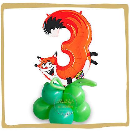 Nummer 3 Ballon - Vos