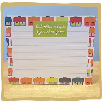 Notitieblok - Bedankt voor het fijne schooljaar